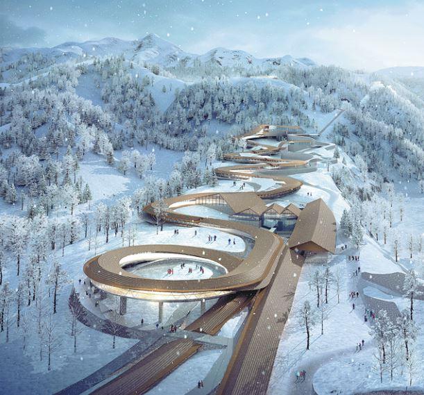 Olympia-Bobbahn bei Peking planmäßig in Bau